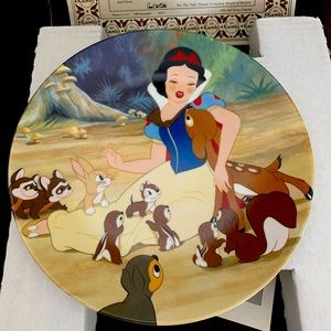 🍎Snow White And The Seven Dwarfs WITH A SMILE AND A SONG collector plate